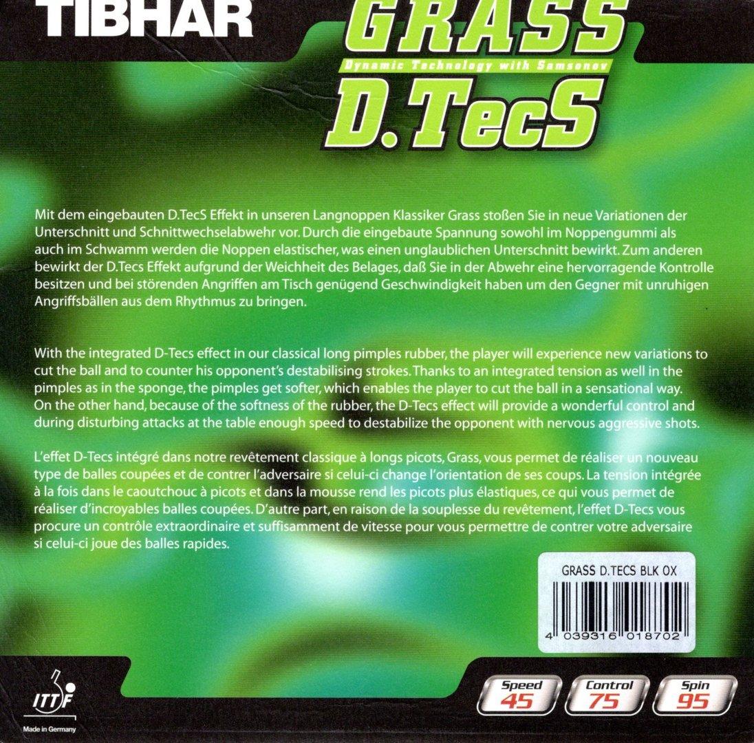 tibhar grass d tecs lange noppen tischtennisbel ge preiswert online bei tt top bestellen. Black Bedroom Furniture Sets. Home Design Ideas