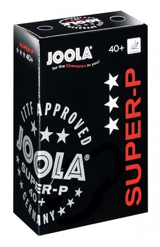 Joola *** Ball Super P 40+ 6er 6-pack - weiss