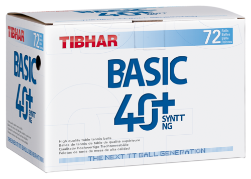 Tibhar Ball Basic 40+ SYNTT NG 72er - weiss